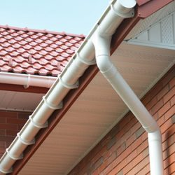 gutter and down spout