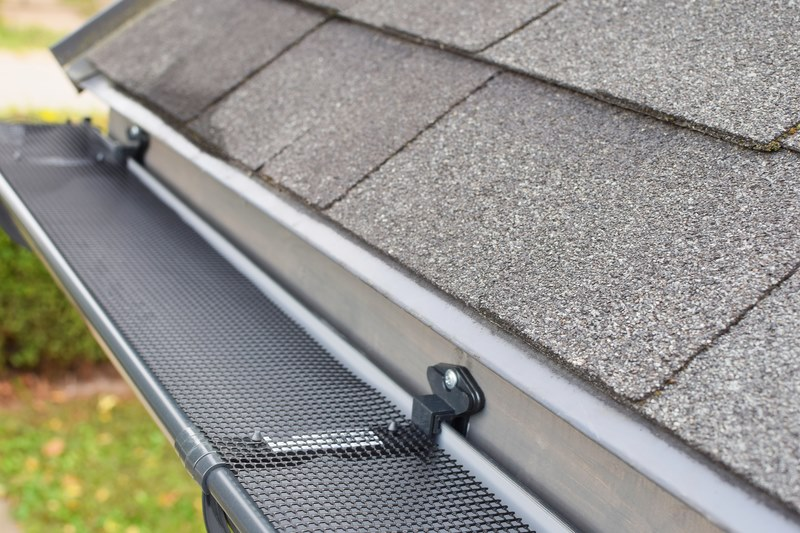 Gutter with Leaf Grate